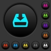 Install to hard drive dark push buttons with color icons - Install to hard drive dark push buttons with vivid color icons on dark grey background