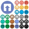Upload round flat multi colored icons - Upload multi colored flat icons on round backgrounds. Included white, light and dark icon variations for hover and active status effects, and bonus shades.