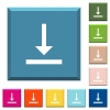 Vertical align bottom white icons on edged square buttons - Vertical align bottom white icons on edged square buttons in various trendy colors