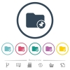 Pin directory flat color icons in round outlines. 6 bonus icons included. - Pin directory flat color icons in round outlines