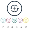 Adjust refresh rate flat color icons in round outlines - Adjust refresh rate flat color icons in round outlines. 6 bonus icons included.