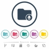 Records directory flat color icons in round outlines. 6 bonus icons included. - Records directory flat color icons in round outlines