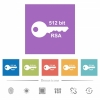 512 bit rsa encryption flat white icons in square backgrounds - 512 bit rsa encryption flat white icons in square backgrounds. 6 bonus icons included.