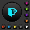Leave dark push buttons with color icons - Leave dark push buttons with vivid color icons on dark grey background