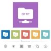 FTP over SSH flat white icons in square backgrounds - FTP over SSH flat white icons in square backgrounds. 6 bonus icons included.