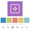 Drag object flat white icons in square backgrounds - Drag object flat white icons in square backgrounds. 6 bonus icons included.
