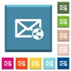 Share mail white icons on edged square buttons - Share mail white icons on edged square buttons in various trendy colors