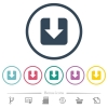 Download flat color icons in round outlines - Download flat color icons in round outlines. 6 bonus icons included.