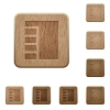 Vertical tabbed layout active wooden buttons - Vertical tabbed layout active on rounded square carved wooden button styles