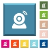 Wireless camera white icons on edged square buttons - Wireless camera white icons on edged square buttons in various trendy colors