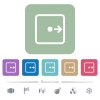 Move object right flat icons on color rounded square backgrounds - Move object right white flat icons on color rounded square backgrounds. 6 bonus icons included