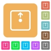 Move object up rounded square flat icons - Move object up flat icons on rounded square vivid color backgrounds.