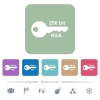 256 bit rsa encryption flat icons on color rounded square backgrounds - 256 bit rsa encryption white flat icons on color rounded square backgrounds. 6 bonus icons included