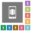 Setting up mobile homescreen square flat icons - Setting up mobile homescreen flat icons on simple color square backgrounds