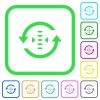Adjust refresh rate vivid colored flat icons - Adjust refresh rate vivid colored flat icons in curved borders on white background