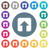 Upload flat white icons on round color backgrounds - Upload flat white icons on round color backgrounds. 17 background color variations are included.
