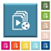 Share playlist white icons on edged square buttons - Share playlist white icons on edged square buttons in various trendy colors