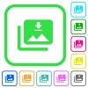 Download multiple images vivid colored flat icons - Download multiple images vivid colored flat icons in curved borders on white background