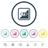 Invert object flat color icons in round outlines - Invert object flat color icons in round outlines. 6 bonus icons included.