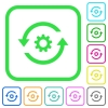 Refresh settings vivid colored flat icons - Refresh settings vivid colored flat icons in curved borders on white background