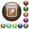 Get object color color glass buttons - Get object color white icons on round color glass buttons