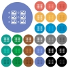 Single image selection with radio buttons round flat multi colored icons - Single image selection with radio buttons multi colored flat icons on round backgrounds. Included white, light and dark icon variations for hover and active status effects, and bonus shades.