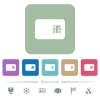 Chip card flat icons on color rounded square backgrounds - Chip card white flat icons on color rounded square backgrounds. 6 bonus icons included