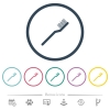 Toothbrush flat color icons in round outlines. 6 bonus icons included. - Toothbrush flat color icons in round outlines