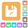 Compress file flat icons on rounded square vivid color backgrounds. - Compress file rounded square flat icons