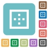 Outer borders rounded square flat icons - Outer borders white flat icons on color rounded square backgrounds