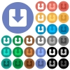 Download round flat multi colored icons - Download multi colored flat icons on round backgrounds. Included white, light and dark icon variations for hover and active status effects, and bonus shades.