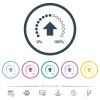 Download in progress flat color icons in round outlines - Download in progress flat color icons in round outlines. 6 bonus icons included.