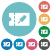 Ice lolly discount coupon flat round icons - Ice lolly discount coupon flat white icons on round color backgrounds