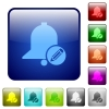 Edit reminder color square buttons - Edit reminder icons in rounded square color glossy button set
