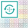 Adjust refresh rate flat color icons with quadrant frames - Adjust refresh rate flat color icons with quadrant frames on white background