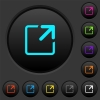 Maximize window dark push buttons with color icons - Maximize window dark push buttons with vivid color icons on dark grey background