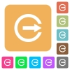 Export with inner arrow flat icons on rounded square vivid color backgrounds. - Export with inner arrow rounded square flat icons