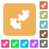 Cooperation flat icons on rounded square vivid color backgrounds. - Cooperation rounded square flat icons