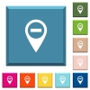 Remove GPS map location white icons on edged square buttons - Remove GPS map location white icons on edged square buttons in various trendy colors