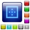 Outer borders color square buttons - Outer borders icons in rounded square color glossy button set