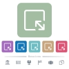 Resize object flat icons on color rounded square backgrounds - Resize object white flat icons on color rounded square backgrounds. 6 bonus icons included