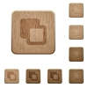 Subtract shapes wooden buttons - Subtract shapes on rounded square carved wooden button styles