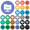 ftp authentication password round flat multi colored icons - ftp authentication password multi colored flat icons on round backgrounds. Included white, light and dark icon variations for hover and active status effects, and bonus shades.