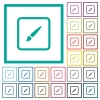 Paint object flat color icons with quadrant frames - Paint object flat color icons with quadrant frames on white background