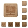 FTP properties on rounded square carved wooden button styles - FTP properties wooden buttons