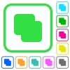 Add shapes vivid colored flat icons - Add shapes vivid colored flat icons in curved borders on white background