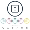 Adjust object height flat color icons in round outlines - Adjust object height flat color icons in round outlines. 6 bonus icons included.