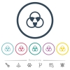 Color mixing flat color icons in round outlines - Color mixing flat color icons in round outlines. 6 bonus icons included.