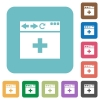 browser add new tab rounded square flat icons - browser add new tab white flat icons on color rounded square backgrounds