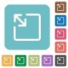 Resize object rounded square flat icons - Resize object white flat icons on color rounded square backgrounds